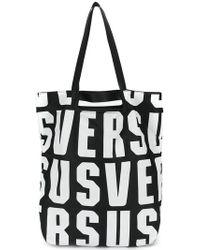 Versus - Logo Printed Tote Bag - Lyst