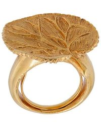 Oscar de la Renta Eucalyptus Ring - Metallic