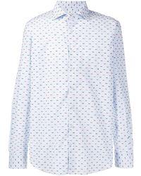 Etro Besticktes Hemd - Blau