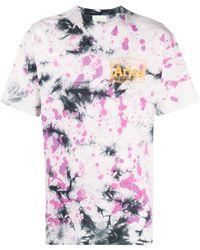 Aries Tie-dye Print T-shirt - Purple