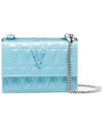 Versace Стеганый Кошелек Virtus - Синий