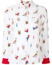Chinti & Parker Camicia con stampa Azteca - Bianco