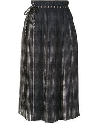 PORTSPURE プリーツ スカート - ブラック