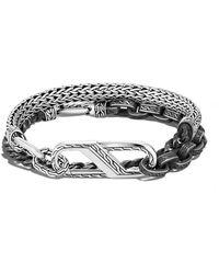 John Hardy Bracelet Classic Chain en argent à design multi-tour - Métallisé