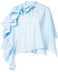 Delpozo | Frill Sleeve Blouse | Lyst
