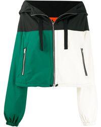 Colville Colour-block Hooded Jacket - White