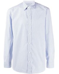 Salvatore Piccolo Striped Slim-fit Shirt - White