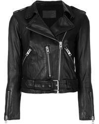 AllSaints クロップドジャケット - ブラック