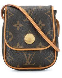 Louis Vuitton 2008 Pre-owned Pochette Cancun Crossbody Bag - Brown