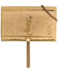 Saint Laurent - Kate Chain Tassel Wallet - Lyst