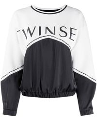Twin Set パネル ロゴ スウェットシャツ - ブラック