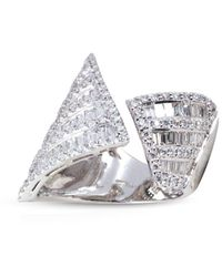 Kavant & Sharart Anello in oro bianco 18kt Origami - Metallizzato