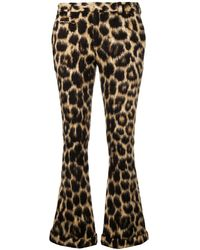 R13 Leopard Print Flared Trousers - Multicolour