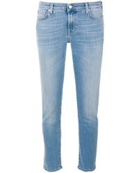 7 For All Mankind - Pyper Cropped Jeans - Lyst