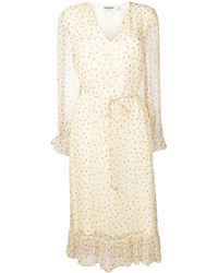 Essentiel Antwerp Polka Dot Print Dress - Natural