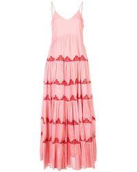 Carolina K - Pleat Detail Maxi Dress - Lyst