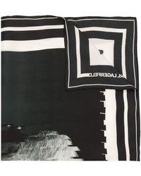 Karl Lagerfeld Karl Legend スカーフ - ブラック