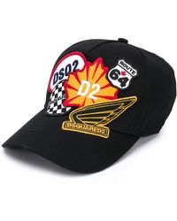 DSquared² Baseballkappe mit Logo-Patch - Schwarz