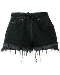 Unravel Project Black Cotton Shorts