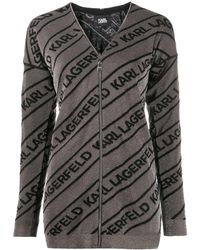 Karl Lagerfeld - ロゴ カーディガン - Lyst