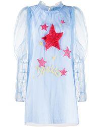 Viktor & Rolf It's A Kind Of Magic スタープリント ドレス - ブルー