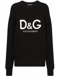 Dolce & Gabbana - Джемпер В Рубчик С Логотипом - Lyst