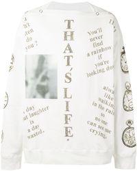 TAKAHIROMIYASHITA TheSoloist. Felpa That's Life - Bianco