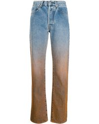 Off-White c/o Virgil Abloh Degrade Two-tone Jeans - Blue