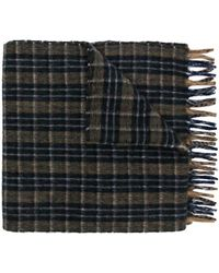 Gucci - Embroidered Checked Scarf - Lyst
