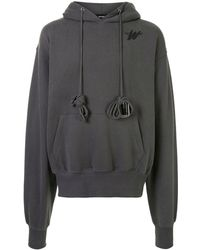 we11done Oversized Cotton Hoodie - Gray