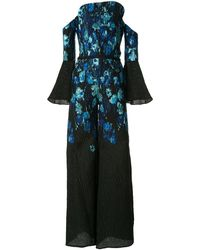 Saiid Kobeisy Floral Jumpsuit - Blue