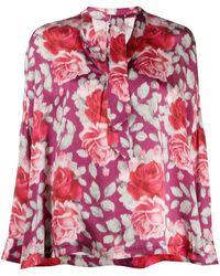 L'Autre Chose - Camicia a fiori - Lyst
