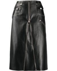 Alexander McQueen Aライン スカート - ブラック