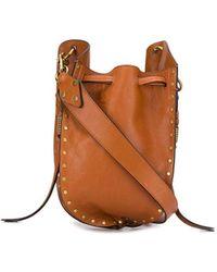 Isabel Marant Radja Studded Bucket Bag - Brown