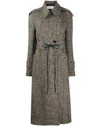 Victoria Beckham - Tie-waist tweed tench coat - Lyst