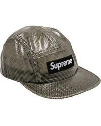 Supreme ロゴ キャップ - ブラック