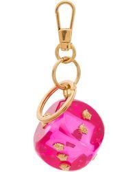 Versace Брелок В Виде Игральной Кости С Головами Медузы - Розовый