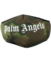 Palm Angels Masque à motif camouflage - Vert