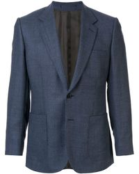 Gieves & Hawkes シングルジャケット - ブルー