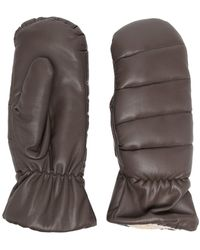 Nanushka Quilted Padded Mittens - Brown