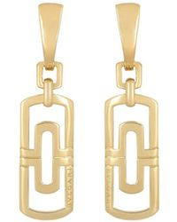 BVLGARI Pre-owned 18kt Yellow Gold Drop Earrings - Metallic