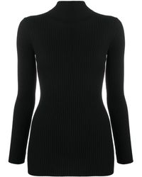 Wolford Ribbed Roll-neck Sweater - Black