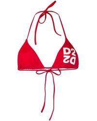 DSquared² Bikini mit Logo - Rot