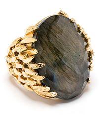 Wouters & Hendrix Labradorite Accent Ring - Metallic