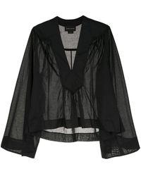 Karen Walker Blusa con diseño fruncido - Negro
