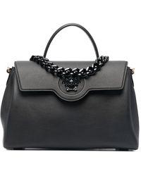 Versace ラ メデューサ ハンドバッグ L - ブラック