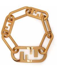 Fendi O'lock チェーン ブレスレット - メタリック