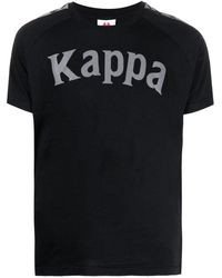Kappa ロゴ Tシャツ - ブラック