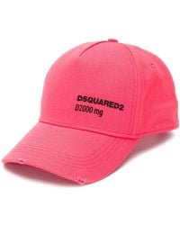 DSquared² Casquette Take Your Daily Dose - Rose