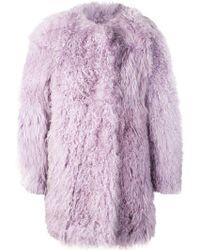 Charlotte Simone Oversized Coat - Purple